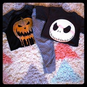 Cat & Jack Sweatpants and Pumpkinhead t-shirts